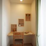 西側洋室の書斎スペース